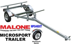 Malone MPG460G Microsport Trailers with galvanized rims