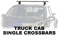 Pickup Truck Single Roof Rack Crossbars that are removable from Thule and Yakima