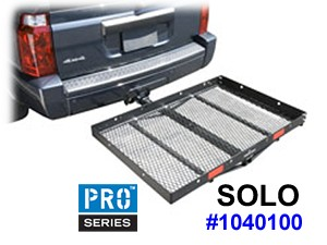 "Pro-Series Solo Hitch Cargo Carrier with large 48"" x 32 deck platform"